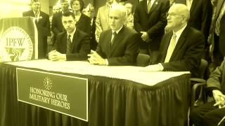 Governor Pence Statement Before Signing Veterans Higher Education Benefit Legislation