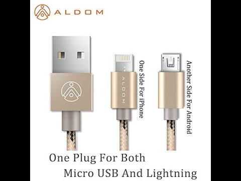 Aldom Apple Lightning And Micro Usb 2 In 1 Dual Cable