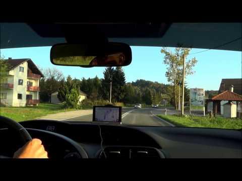 Driving from Zagreb to Slunj - Croatia (Hrvatska)