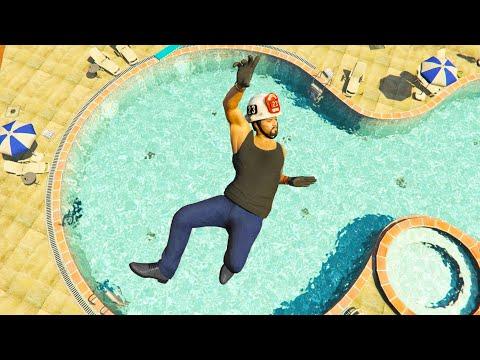 GTA 5 Funny/Crazy Jump Compilation #7 (GTA V Fails Funny Moments)