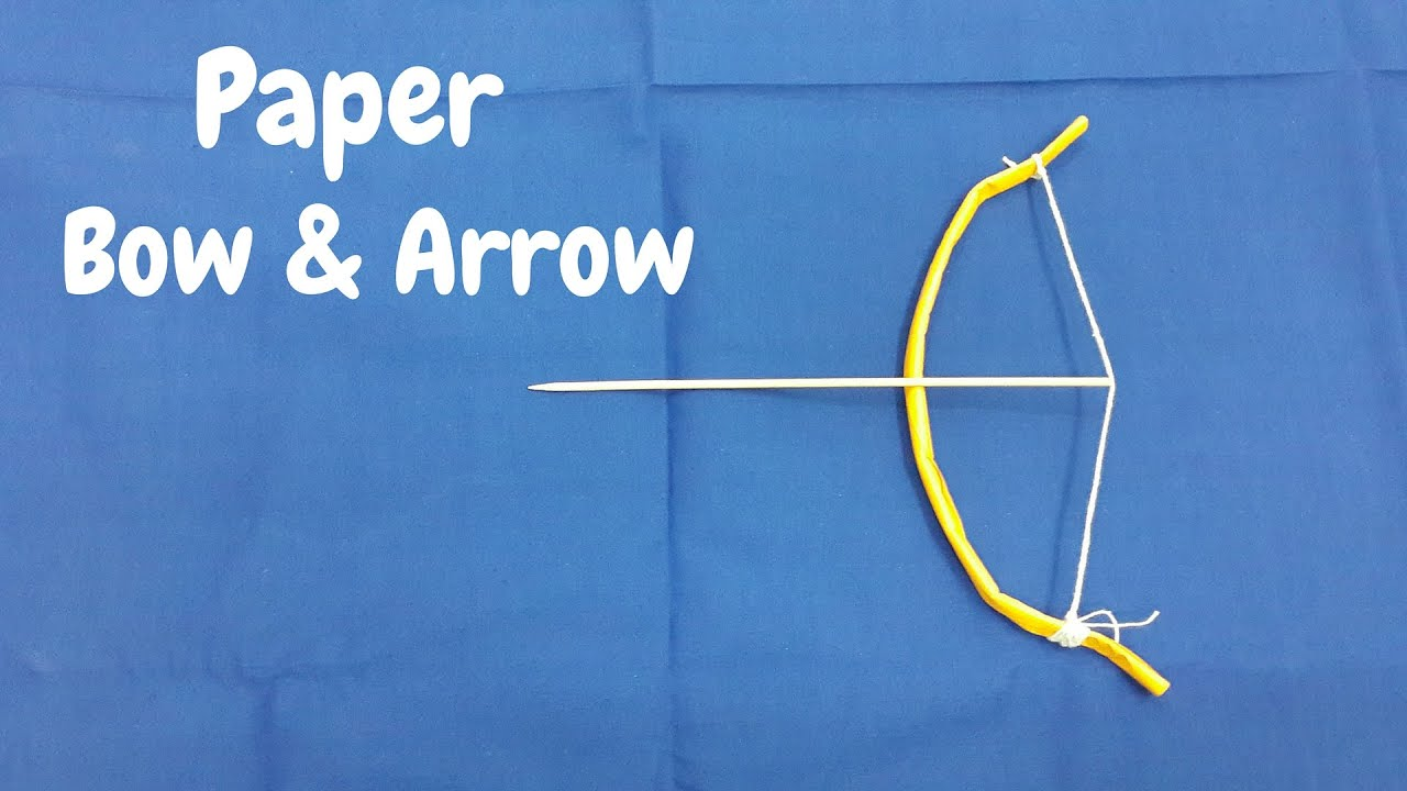 How To Make A Paper Bow And Arrow That Shoots Without