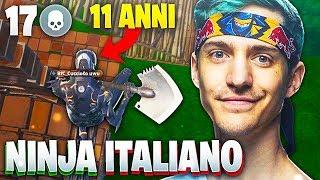 *ASSURDO* NINJA ITALIANO DI 11 ANNI!! NON CREDERAI AI TUOI OCCHI! SOLO VS SQUAD! FORTNITE ITA