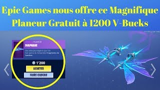 Fortnite Glider FREE at 1200 V-BUCKS Offered Free By Epic Games !!!