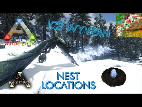 🆕EASY Ice ❄️ Wyvern Nest Locations Redux | Ragnarok | ARK: Made Easy