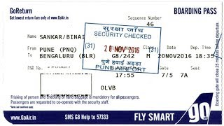 How to make Boarding Pass in Goair. Com