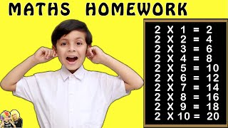 MATHS HOMEWORK #Funny Types of Students #Bloopers | Aayu and Pihu Show