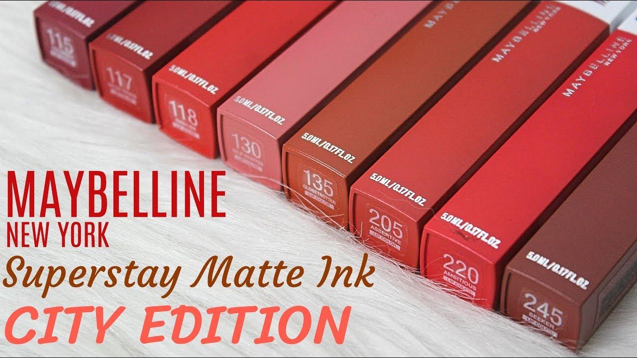 maybelline superstay matte ink city edition liquid lipstick