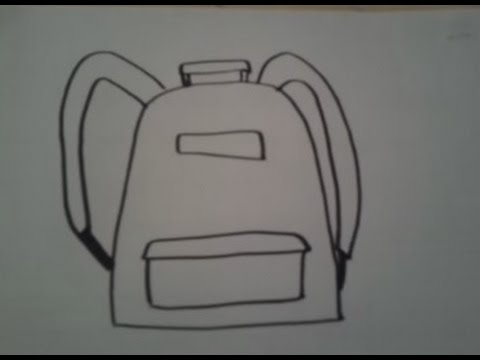 dessiner un sac a dos youtube. Black Bedroom Furniture Sets. Home Design Ideas