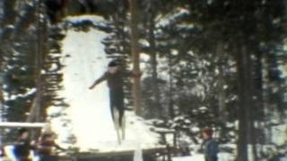 ungdommer hopper p ski ca 1965