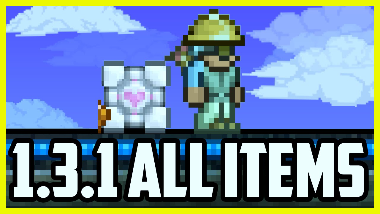 Terraria 1.3.1 ALL ITEMS MAP DOWNLOAD