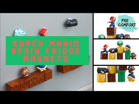 Super Mario Resin Fridge Magnets