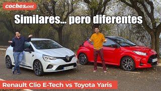 Toyota Yaris Hybrid vs Renault Clio E-Tech | Comparativa / Prueba / Review en español | coches.net