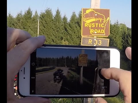 Wisconsin Rustic Road 33 - Motorcycle Tour Vlog