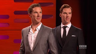 Benedict Cumberbatch Photobombs his own Wax Figure - The Graham Norton Show on BBC America