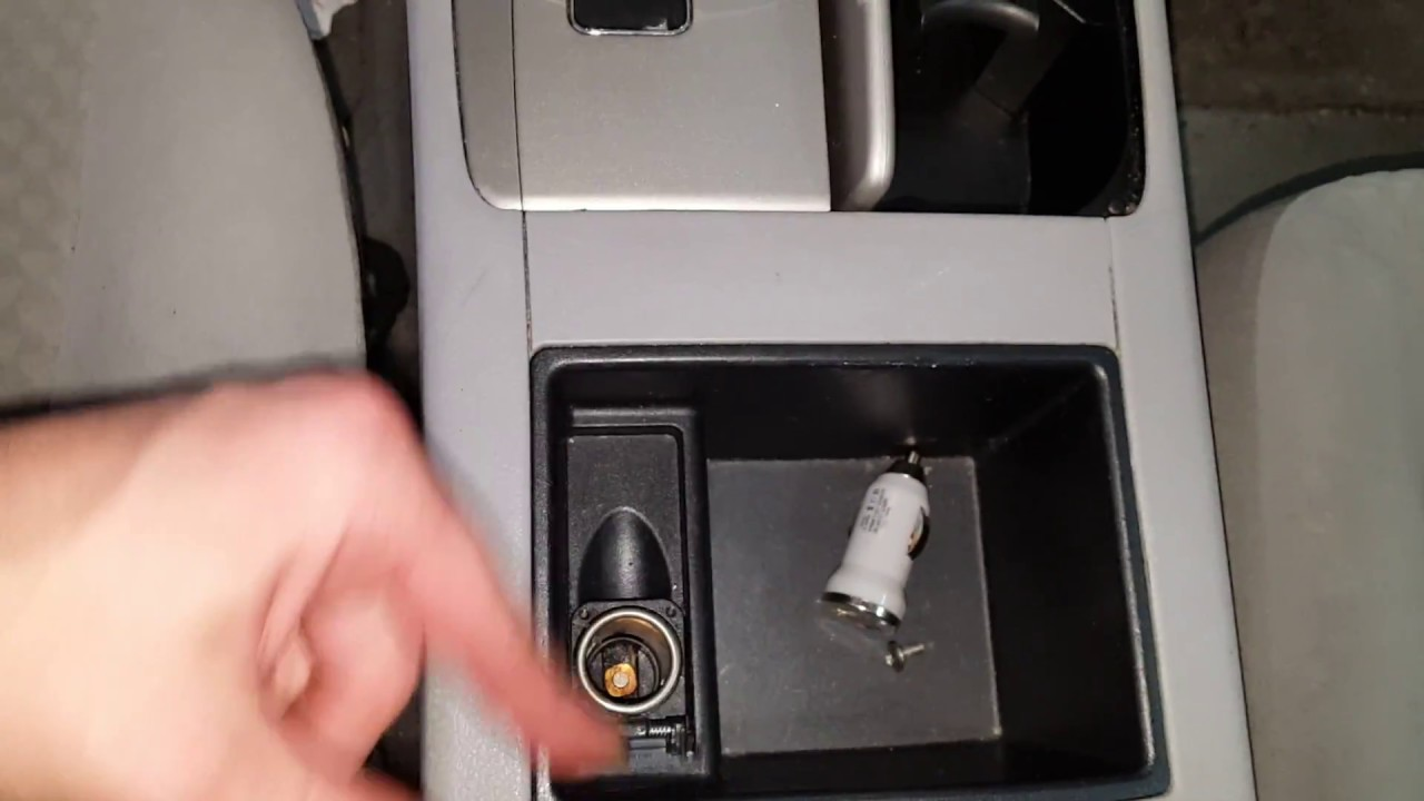 Toyota Camry Cigarette lighter Power Outlet Fuse Location 20072011  YouTube