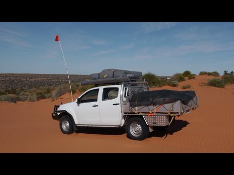 Simpson Desert with Isuzu Dmax and Gordigear Roof Tent + Awning
