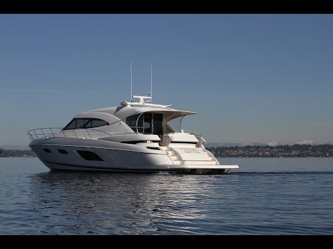 Riviera 60 full tour.  Express yacht available for sale in Seattle NOW!
