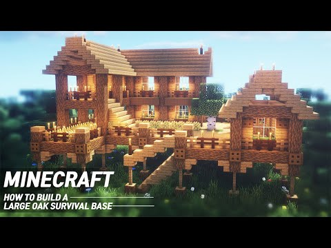 Minecraft : Oak Survival Base Tutorial |How to Build in Minecraft (#55)