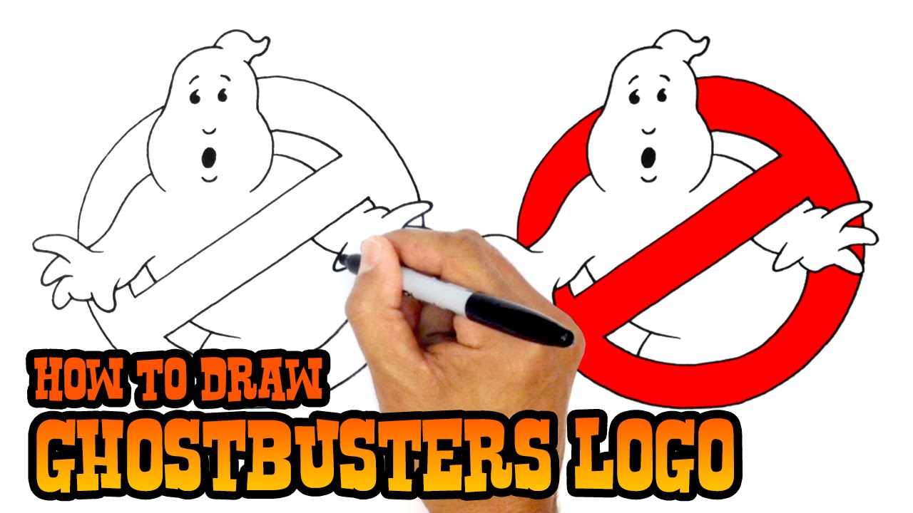 how to draw no ghosts logo ghostbusters youtube