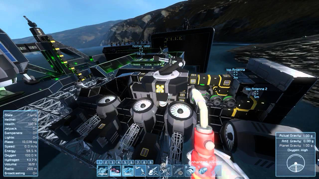 how to build a ship in space engineers beta
