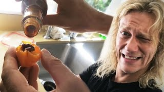 Habanero Shot with 357 Mad Dog! - Dudesons VLOG