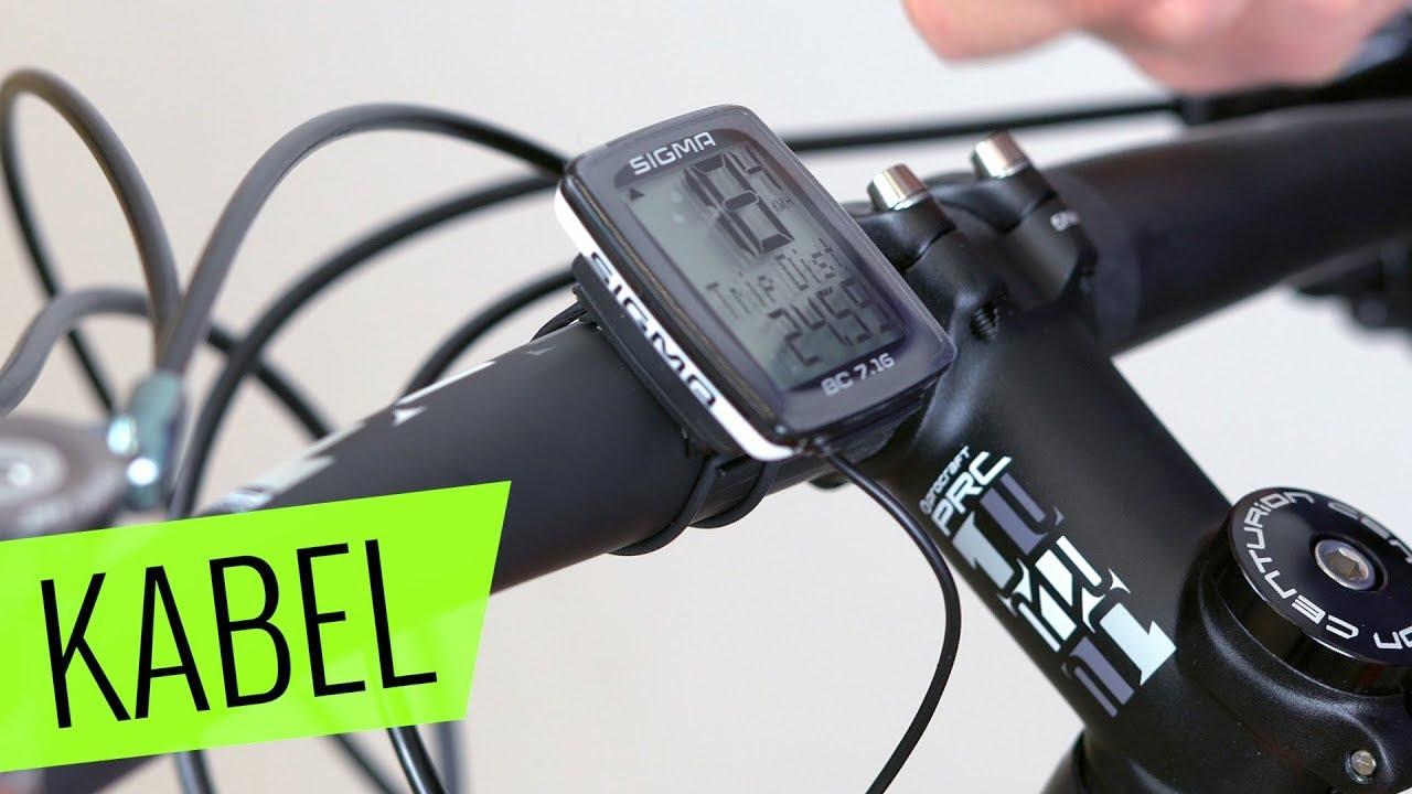 Fahrradcomputer Wo Anbringen : Kabelgebundener fahrradcomputer installation einfach schnell