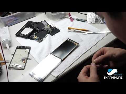 Hướng Dẫn Thay màn hình , mặt kính cảm ứng HTC Raider 4G
