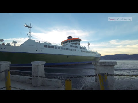 Ferry Boat Trip Messina Strait - Sicily to Italy - Offshore Time Lapse GoPro HD