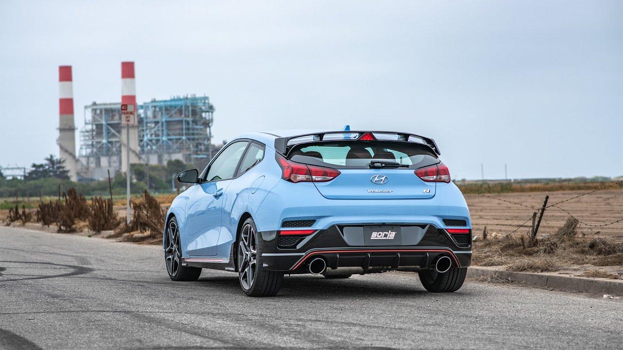 borla exhaust for the 2019 2020 hyundai veloster n n mode
