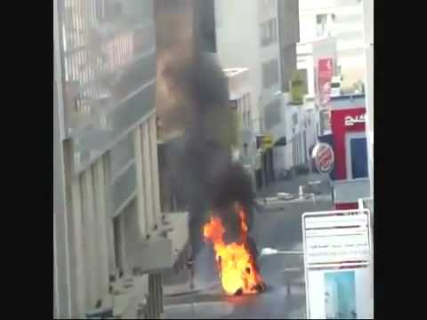 Rioters Terorists in Bahrain BLOW UP shops in the City Center