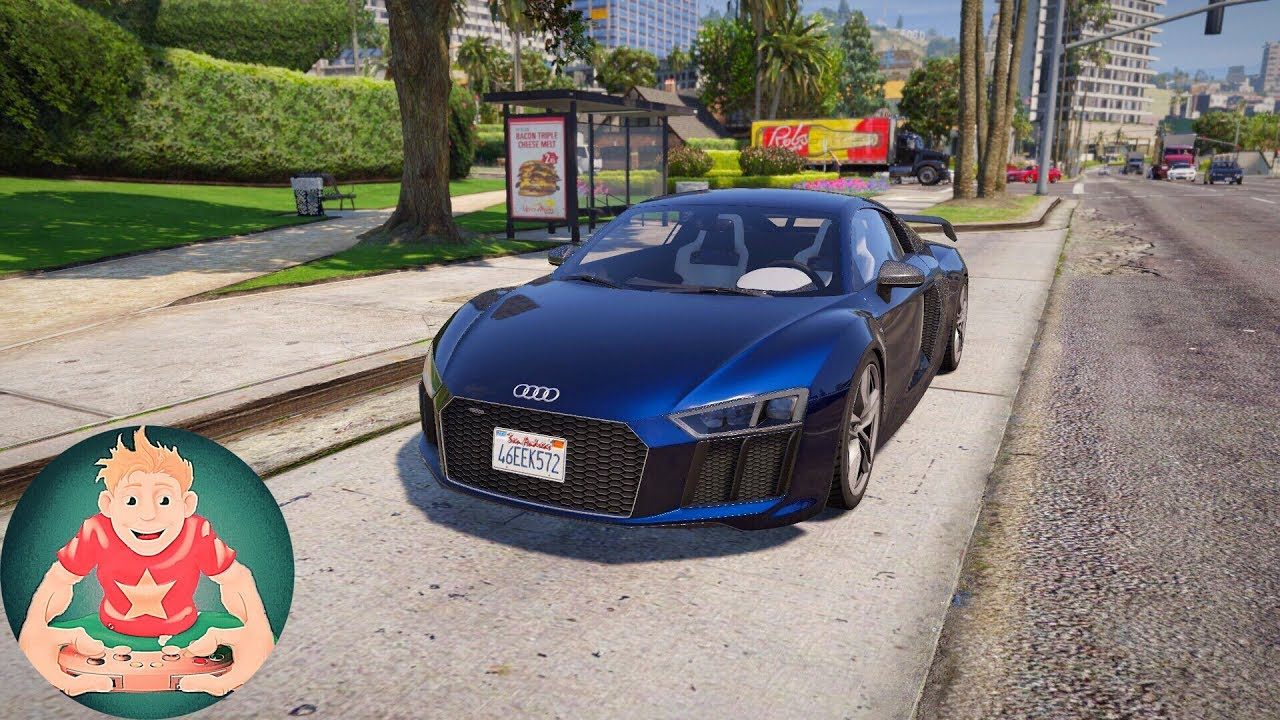GTA 6 Graphics   Natural Vision 2.0   2017 Audi R8 V10 Plus   Gameplay    Realistic Graphics MOD!