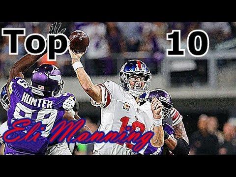 Eli Manning Top 10 Plays of Career