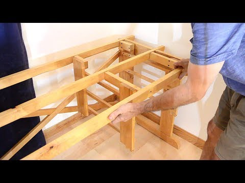 Knock-down desk assembly