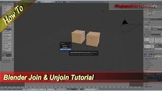 Blender Join And Unjoin Objects Tutorial
