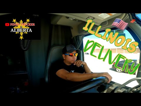 FIRST DROP DELIVERY IN ILLINOIS | PINOY TRUCKER IN ALBERTA  🇨🇦