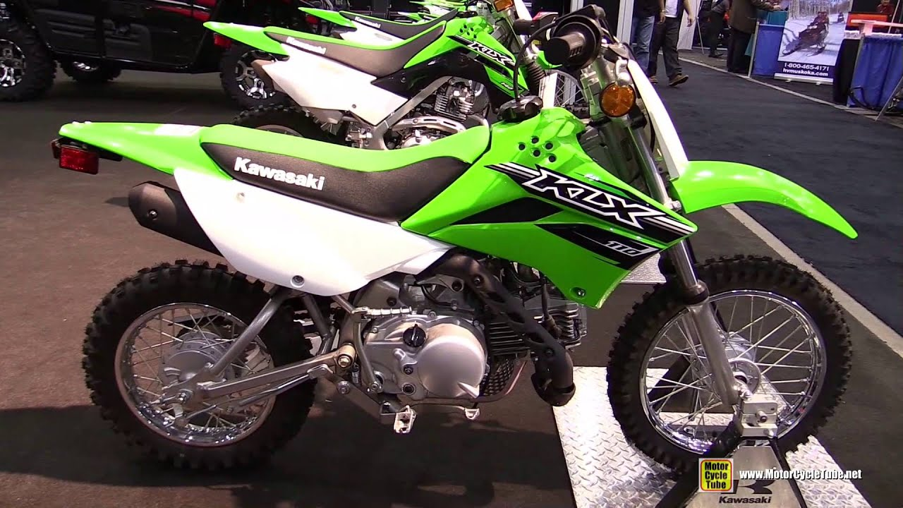2016 kawasaki klx110 - walkaround - 2015 toronto atv show - youtube