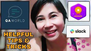 QA WORLD HELPFUL TIPS & TRICKS