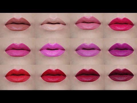 Avon Matte Lipsticks Swatches