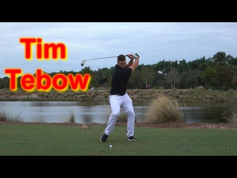 TIM TEBOW POWERFUL GOLF SWING 120fps SLOW MOTION 1080p HD