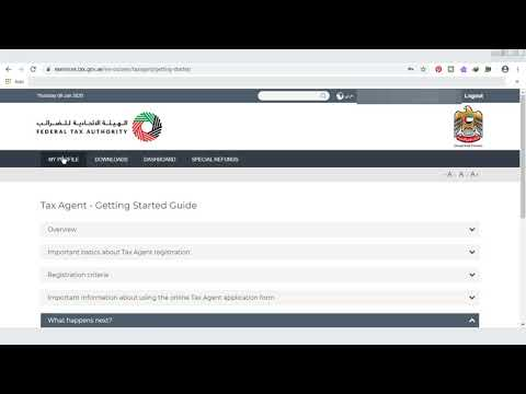 HOW TO GET REGISTRATION AS TAX AGENT IN UAE