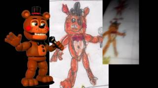 Как выглядят рисунки героев 5 ночеи с Фредди в таблице Рассказываем и показываем