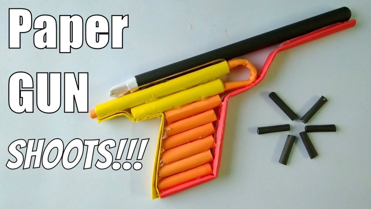 How to make a Paper Revolver that Shoots Paper Bullet (Paper Gun)