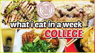 🍕what i eat in a week: college food edition🍣 @ Cornell University | Katie Tracy
