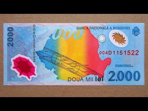 2000 Romanian Lei Banknote Two Thousand Lei Romania 1999 Obverse