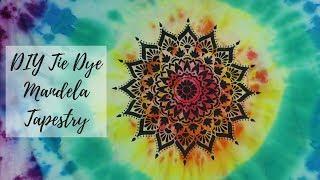 How to Make a Mandala Tie Dye Tapestry Using A Stencil Tutorial