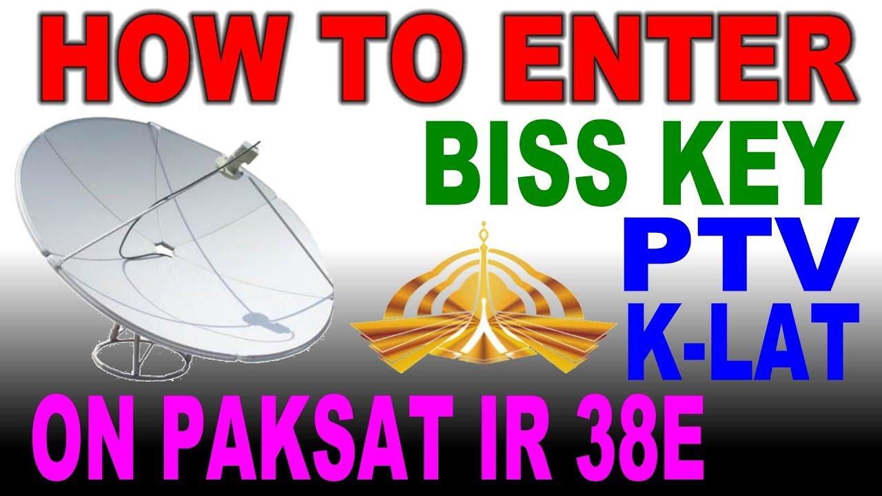 Biss key PTV K LAT on paksat IR 38E
