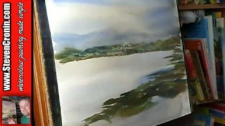 Watercolour Landscape Painting Demo of Portree, Isle of Skye, Scotland