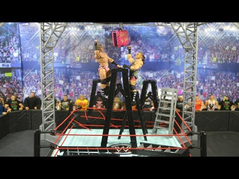 WWE FIGURE MONEY IN THE BANK LADDER MATCH PLAYSET!