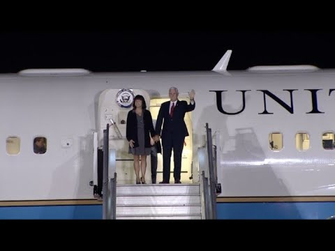 US Vice President Pence arrives in Argentina