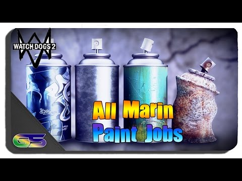 Watch Dogs 2 - All Marin Paint Job Locations